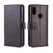 brun Flip cover ægte læder Huawei Y6 (2019) Mobil tilbehør