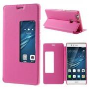 HUAWEI P9 PLUS cover etui med vindue rosa, Mobiltelefon tilbehør