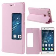HUAWEI P9 PLUS cover etui med vindue pink, Mobiltelefon tilbehør