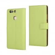 HUAWEI P9 PLUS cover - etui i split læder med lommer grøn, Mobiltelefon tilbehør mobilcover