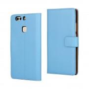 HUAWEI P9 PLUS cover - etui i split læder med lommer blå, Mobiltelefon tilbehør mobilcover