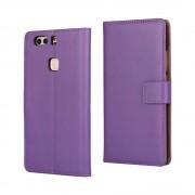 HUAWEI P9 PLUS cover - etui i split læder med lommer lilla, Mobiltelefon tilbehør mobilcover