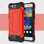 Huawei Ascend P8 lite cover rød Armor Guard Mobiltelefon tilbehør