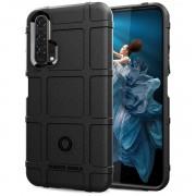 Rugged Shield Case Huawei Nova 5T sort Mobil tilbehør