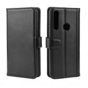 sort Flip cover ægte læder Huawei P Smart Z Mobil tilbehør