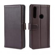 brun Flip cover ægte læder Huawei P Smart Z Mobil tilbehør