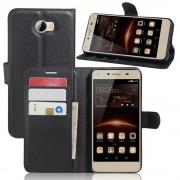 Huawei Y5 2 cover med lommer sort Mobiltelefon tilbehør