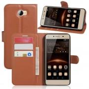 Huawei Y5 2 cover med lommer brun Mobiltelefon tilbehør