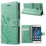 HUAWEI P9 cover butterfly cyan Mobiltelefon tilbehør