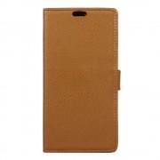 Huawei Y3 2 flip cover med lommer brun, Huawei y3 2 covers