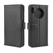 sort Læder flip etui Huawei Mate 30 Pro Mobil tilbehør