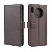 brun Læder flip etui Huawei Mate 30 Pro Mobil tilbehør