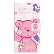 Huawei Y5 2 etui med lommer og mønster cute bear Mobiltelefon tilbehør