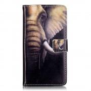 Huawei Y5 2 etui med lommer og mønster elephant Mobiltelefon tilbehør