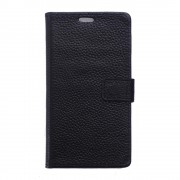 Huawei Honor 8 cover ægte læder sort Mobiltelefon tilbehør