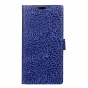 Huawei Honor 7 Lite cover croco mørkeblå Leveso.dk Mobiltelefon tilbehør