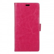 Huawei Y6 2 cover med lommer rosa Mobiltelefon tilbehør
