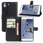 Huawei Y6 2 etui med lommer sort Mobiltelefon tilbehør