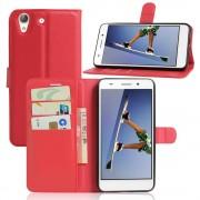 Huawei Y6 2 etui med lommer rød Mobiltelefon tilbehør