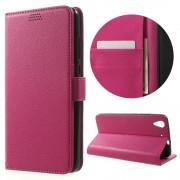 Huawei Y6 2 etui med lommer rosa Mobiltelefon tilbehør