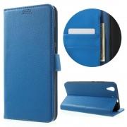 Huawei Y6 2 etui med lommer blå Mobiltelefon tilbehør