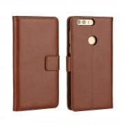 Huawei Honor 8 cover i split læder brun Mobiltelefon tilbehør