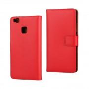 HUAWEI P9 LITE ægte læder cover rød, Mobiltelefon tilbehør