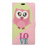Huawei Y6 2 Compact cover med mønster Owl and LOVE Mobiltelefon tilbehør