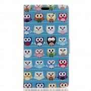 Huawei Y6 2 Compact cover med mønster Cute Multiple Owls Mobiltelefon tilbehør