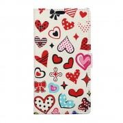 Huawei Y6 2 Compact cover med mønster Colorized Hearts Mobiltelefon tilbehør