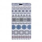 Huawei Y6 2 Compact cover med mønster Tribal Flowers Mobil tilbehør