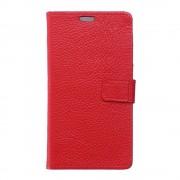 Huawei Y6 2 Compact cover i ægte læder rød Leveso.dk Mobiltelefon tilbehør