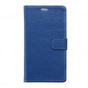 Til Huawei Y6 2 Compact blå cover i ægte læder Mobiltelefon tilbehør Leveso.dk