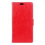 til Huawei Y6 2 Compact etui rød med kort holder Mobiltelefon tilbehør