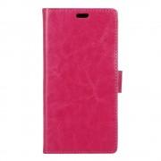 til Huawei Y6 2 Compact rosa etui med lommer Leveso.dk Mobiltelefon tilbehør