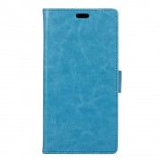 Til Huawei Y6 2 Compact etui med lommer blå Leveso.dk