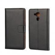 Huawei Honor 7 Lite cover i split læder sort Mobiltelefon tilbehør