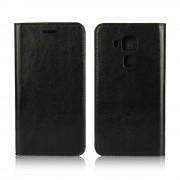 Huawei Nova Plus cover i ægte læder sort Mobiltelefon tilbehør