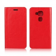 til Huawei Nova Plus rød cover i ægte læder Mobiltelefon tilbehør