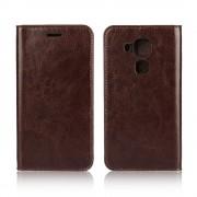 Huawei Nova Plus cover i ægte læder mocca Leveso.dk Mobiltelefon tilbehør