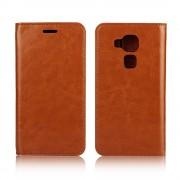 Cover til Til Huawei Nova Plus i ægte læder brun Mobiltelefon tilbehør