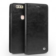 Huawei Honor 8 premium læder cover med kort holder sort Mobiltelefon tilbehør