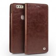 Huawei Honor 8 premium læder cover med kort holder brun Mobiltelefon tilbehør