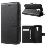 Huawei Honor 7 lite etui med lommer sort Mobiltelefon tilbehør