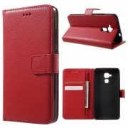 Huawei Honor 7 lite etui med lommer rød Mobiltelefon tilbehør