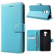 Huawei Honor 7 lite etui med lommer lyseblå Mobiltelefon tilbehør