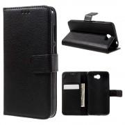 Huawei Y5 2 etui med lommer sort Mobiltelefon tilbehør