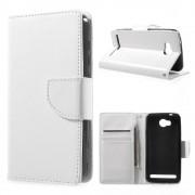 til Huawei Y3 2 klassisk flip cover hvid, Huawei covers