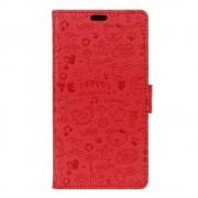 Huawei Nova etui cartoon rød Mobiltelefon tilbehør