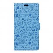 Huawei Nova etui cartoon lyse blå Mobiltelefon tilbehør